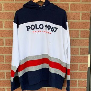 Polo Ralph Lauren Mens 1967 Color Blocked Hoodie